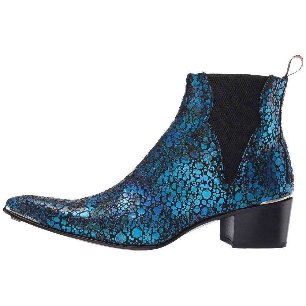 ジェフリー ウエスト Jeffery-West メンズ シューズ・靴 ブーツ【Sylvian Chevron Chelsea Boot】Blue/Black