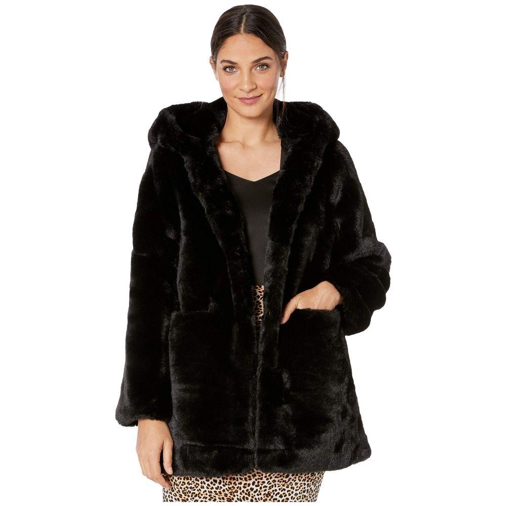 ラブトークン Love Token レディース ダウン・中綿ジャケット ファーコート フード アウター【wyatt hooded faux fur coat】Black