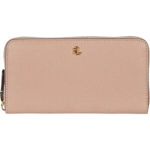 LAUREN Ralph Lauren Ladies Wallet [Zip Continental Wallet] Mellow Pink/Porcini