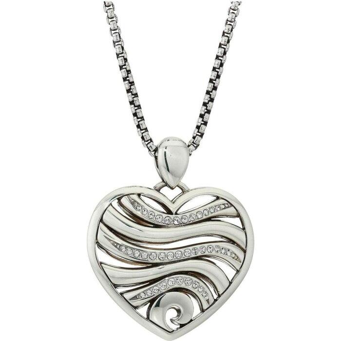 ブライトン Brighton レディース ネックレス ハート ジュエリー・アクセサリー【Oceanus Heart Necklace】Crystal