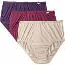 ジョッキー Jockey レディース ショーツのみ 3点セット 大きいサイズ インナー・下着【Plus Size Elance Brief 3-Pack】Oatmeal Heather/Boysenberry Heather/Perfect Purple Heather 1