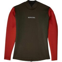 リップカール Rip Curl メンズ ウェットスーツ ジャケット 水着・ビーチウェア【Dawn Patrol Reversible 1.5 m Long Sleeve Jacket】Khaki