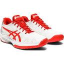 アシックス ASICS レディース テニス シューズ・靴【Solution Speed FF】White/Fiery Red