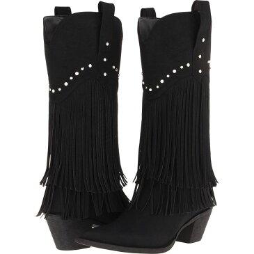 ローパー Roper レディース ブーツ シューズ・靴【12' Stud and Fringe Boot】Black/Crystal Stud