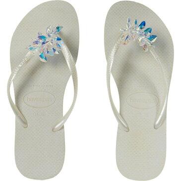 ハワイアナス Havaianas レディース ビーチサンダル シューズ・靴【Slim Crystal Minerals】White