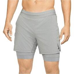 ナイキ Nike メンズ ヨガ・ピラティス ショートパンツ ボトムス・パンツ【Shorts Flex Active 2-1 Yoga】Iron Grey/Black