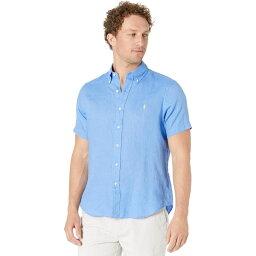 ラルフ ローレン Polo Ralph Lauren メンズ 半袖シャツ トップス【Short Sleeve Classic Fit Linen Shirt】Harbor Island Blue