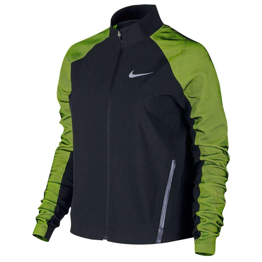 ナイキ レディース ランニング・ウォーキング アウター【Nike Dri-FIT Stadium Jacket】Black/Volt/Reflective Silver:フェルマート