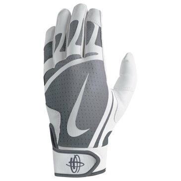ナイキ メンズ 野球 グローブ【Nike Huarache Edge Batting Gloves】White/Cool Grey