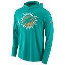 ナイキ メンズ トップス 長袖Tシャツ【Nike NFL L/S Hooded T-Shirt】Turbo Green