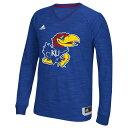 アディダス メンズ トップス 長袖Tシャツ【adidas College On Court L/S Shooting Shirt】Blue