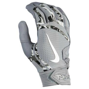 ナイキ メンズ 野球 グローブ【Trout Elite Batting Gloves】Wolf Grey/Wolf Grey/Chrome