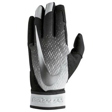ナイキ メンズ 野球 グローブ【Vapor Elite Batting Gloves】Black/Black/Metallic Silver