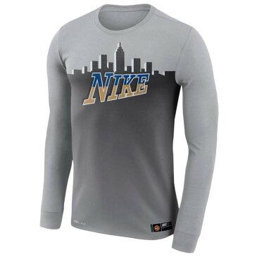 ナイキ メンズ トップス 長袖Tシャツ【Dri-FIT 90 City T-Shirt】Wolf Grey