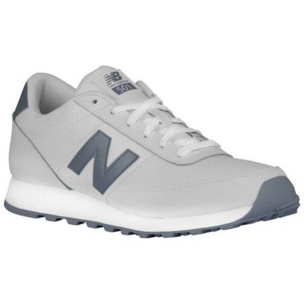 5952ab630b988 ニューバランス メンズ ランニング オンライン・ウォーキング シューズ・靴 6610565【501】White/Steel  Leather:フェルマート ニューバランス メンズ ランニング・ ...
