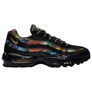 ナイキ メンズ ランニング・ウォーキング シューズ・靴【Air Max 95】Black/Metallic Gold/Cobalt Blaze