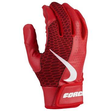 ナイキ Nike メンズ 野球 グローブ【Force Edge Batting Glove】University Red/University Red/White