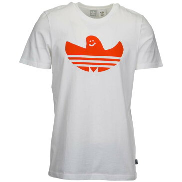 アディダス adidas Originals メンズ トップス Tシャツ【Solid Shmoo T-Shirt】White/Collegiate Orange