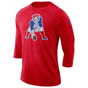 ナイキ Nike メンズ トップス 長袖Tシャツ【NFL Tri-Blend Historic Crackle 3/4 T-Shirt】University Red