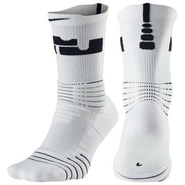 ナイキ Nike ユニセックス バスケットボール【LeBron Elite Versatility Crew Socks】White/Cool Grey/Black
