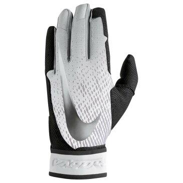 ナイキ Nike メンズ 野球 グローブ【Vapor Elite Batting Gloves】Black/White/Metallic Silver