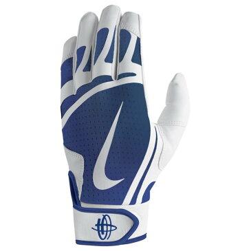 ナイキ Nike メンズ 野球 グローブ【Huarache Edge Batting Gloves】White/Game Royal