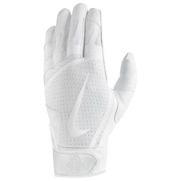 ナイキ Nike メンズ 野球 グローブ【Huarache Edge Batting Gloves】White/White/White