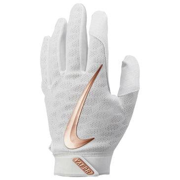 ナイキ Nike メンズ 野球 グローブ【Vapor Elite Batting Gloves】White/White/Metallic Red Bronze