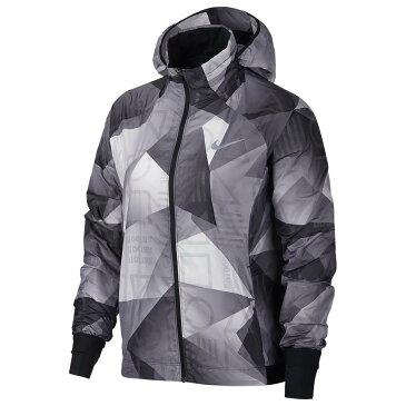 ナイキ Nike レディース ランニング・ウォーキング アウター【Shield Hooded Jacket】Black/Black/Reflective Silver