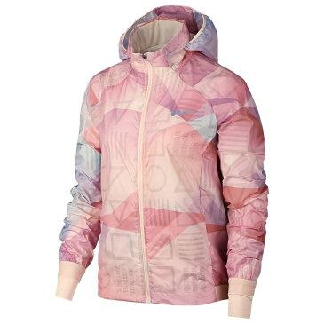 ナイキ Nike レディース ランニング・ウォーキング アウター【Shield Hooded Jacket】Guava Ice/Guava Ice/Reflective Silver