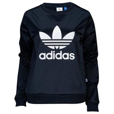 アディダス adidas Originals レディース トップス スウェット・トレーナー【Satin Trefoil Sweatshirt】Legend Ink