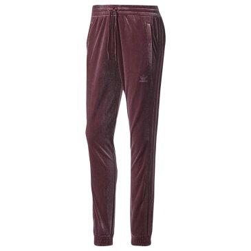 アディダス adidas Originals レディース ボトムス・パンツ スウェット・ジャージ【Velvet Vibes Cuffed Pants】Maroon