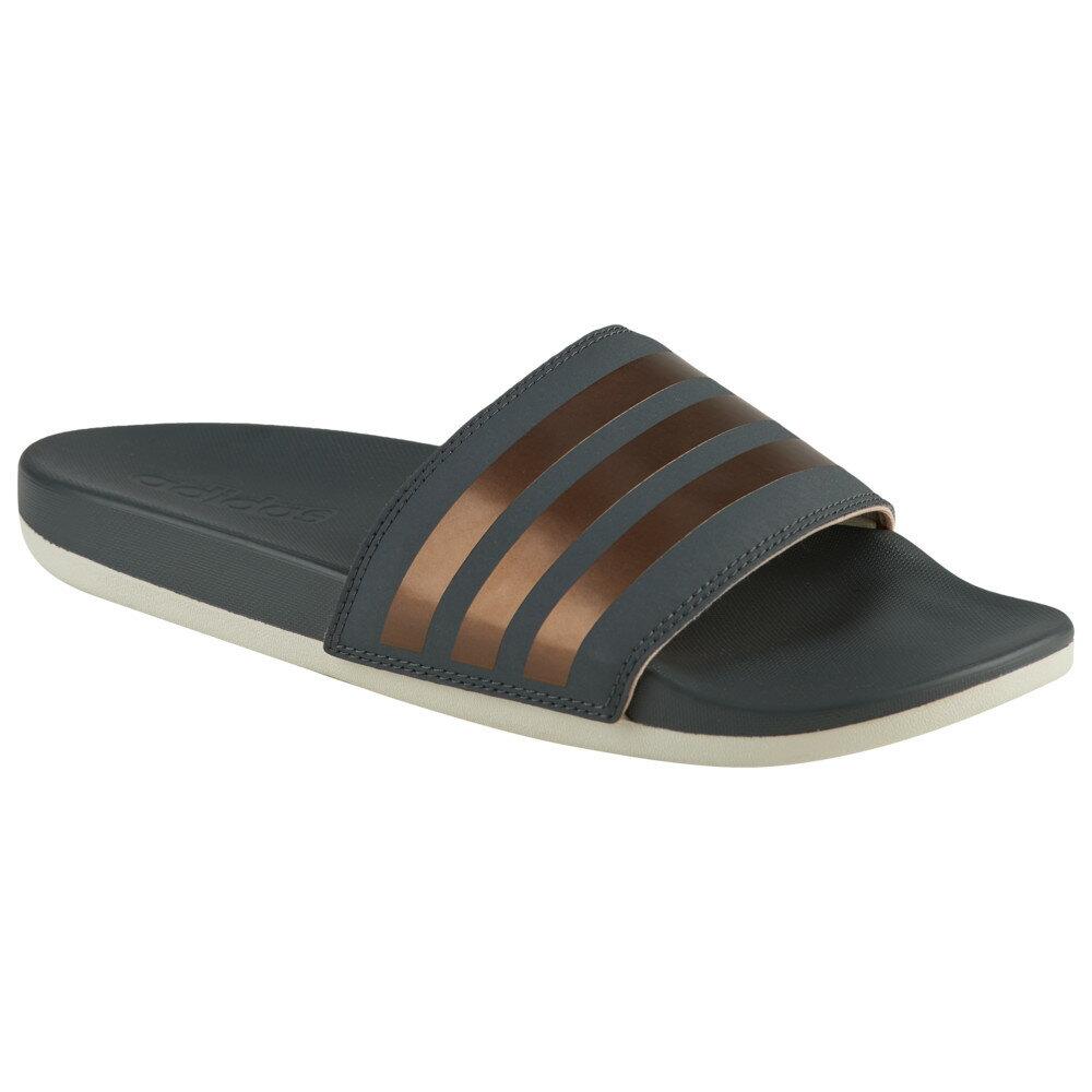 アディダス adidas レディース シューズ・靴 サンダル・ミュール【Adilette CF Plus】Grey Six/Copper Metallic/White 3 Stripes