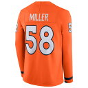 ナイキ Nike メンズ トップス【NFL Therma Jersey】NFL Denver Broncos Von Miller Brilliant Orange