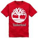ティンバーランド Timberland メンズ トップス Tシャツ【Core Logo S/S T-Shirt】Fiery Red
