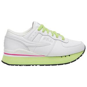 フィラ Fila レディース ランニング・ウォーキング シューズ・靴【original running primavera】White/Pink/Green
