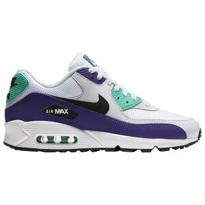 ナイキ Nike メンズ ランニング・ウォーキング シューズ・靴【air max 90】White/Black/Hyper Jade/Court Purple