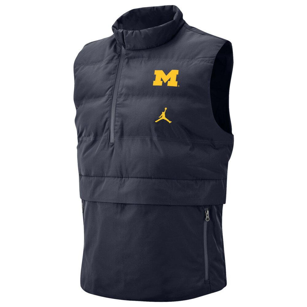 ナイキ ジョーダン Jordan メンズ トップス ベスト・ジレ【College 23 Tech Vest】NCAA Michigan Wolverines Navy