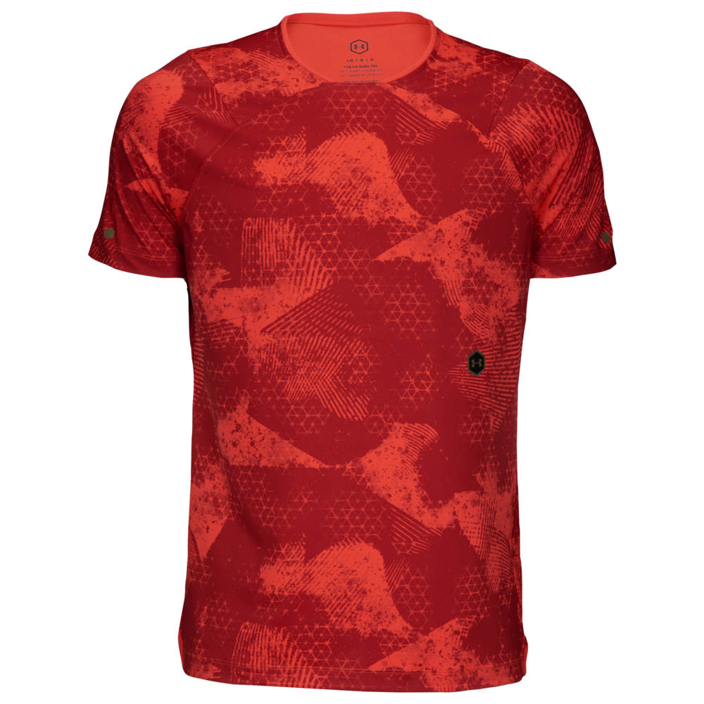 メンズウェア, トップス  Under Armour T Rush Fitted T-ShirtMartion RedBlack