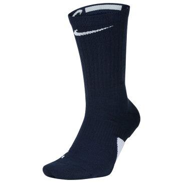 ナイキ Nike ユニセックス バスケットボール 【Elite Crew Socks】Midnight Navy/White
