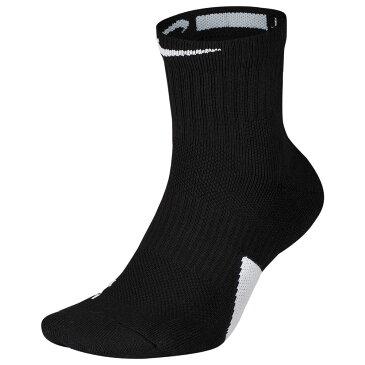 ナイキ Nike ユニセックス バスケットボール ソックス【Elite Mid Socks】Black/White