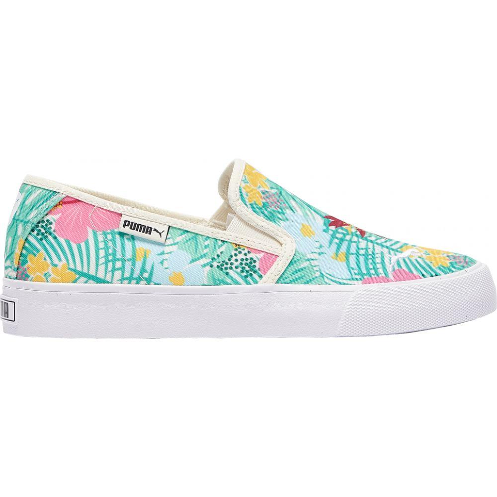 プーマ PUMA レディース テニス シューズ・靴【Bari Slip On】Green/Pink/Yellow/Tropical Print