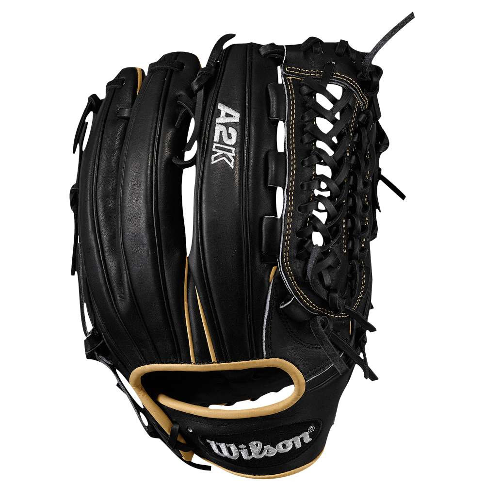 ウィルソン メンズ 野球 グローブ【Wilson A2K D33 Closed Pro Laced Web FLDR GL】Black:フェルマート