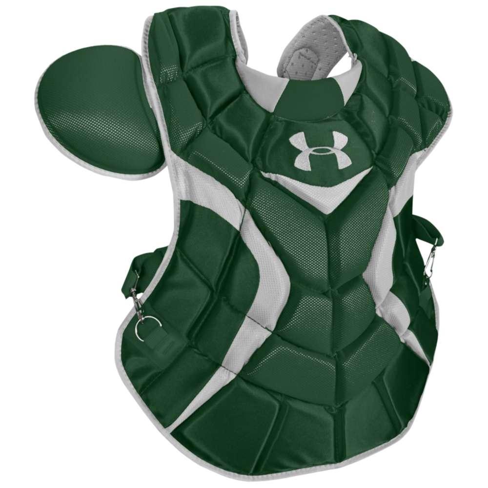 アンダーアーマー メンズ 野球 プロテクター【Under Armour Pro Chest Protector】Dark Green/Silver:フェルマート