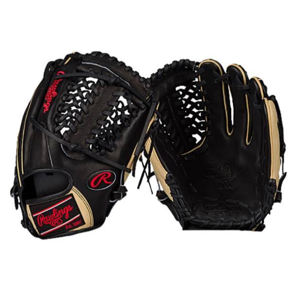 ローリングス メンズ 野球 グローブ【Rawlings Heart of the Hide Fielding Glove】Black/Camel/Red:フェルマート