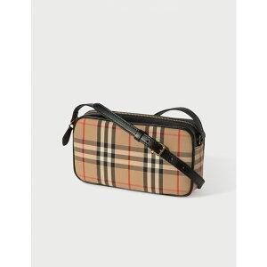 バーバリー Burberry レディース ショルダーバッグ カメラバッグ バッグ【Small Vintage Check and Leather Camera Bag】Archive Beige