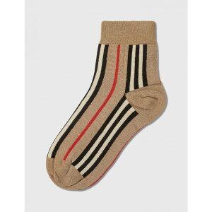 バーバリー Burberry メンズ ソックス インナー・下着【icon stripe intarsia ankle socks】Archive Beige