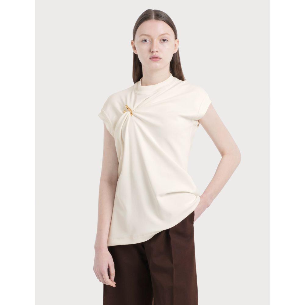 トップス, Tシャツ・カットソー  Bottega Veneta Sleeveless Top With Metal DecrWhite