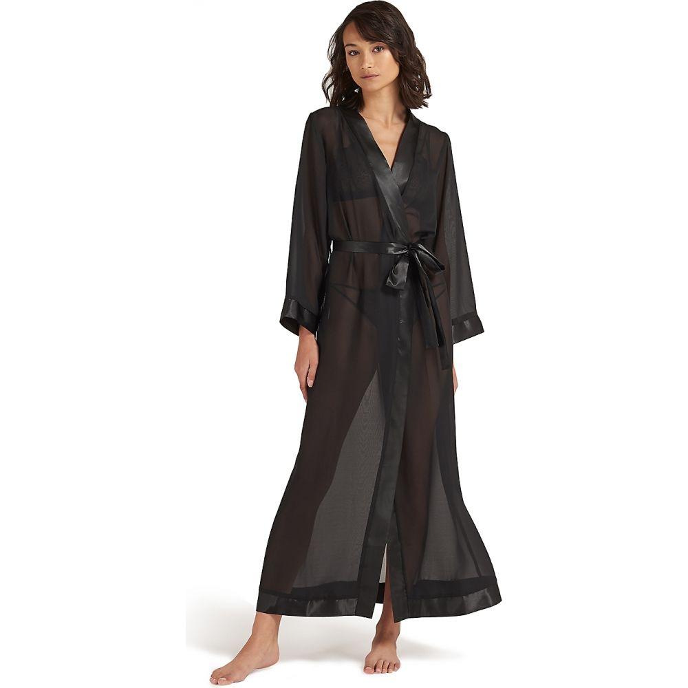 ナイトウェア・ルームウェア, バスローブ  Bluebella Marcella Long Kimono RobeBlack