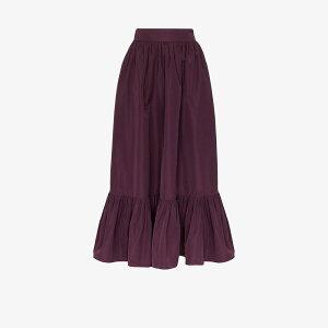 Valentino Ladies Long Maxi Skirt Skirt [gathered maxi skirt] purple